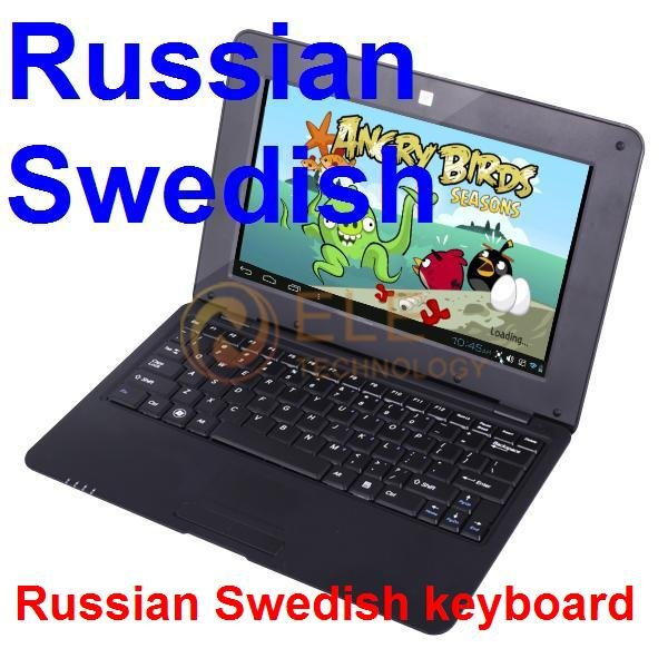 "10.1"" android 4.0 VIA 8850 512M 4GB HDMI Camera WIFI Russian Swedish keyboard Russia Ukraine mini notebook laptop computer"