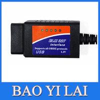 2014 New ELM327 USB ELM 327 OBD2 / OBDII V1.5 Auto Diagnostic Interface Scanner Code Reader FREE SHIPPING