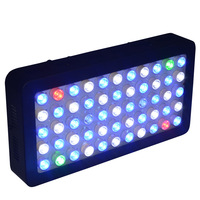 120w Rgb Color Dimmable LED Aquarium Light with 60/90degree Optic+US Warranty+Free Shipping