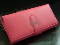 Women leather long design wallet women's medium-long casual wallet buckle wallet