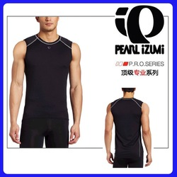 34 PI Brand Authentic Sports Apparel Men Cycling Sleeveless Shirt Baselayer Tight Underwear Quick Dry High Quality Free Shipping(China (Mainland))