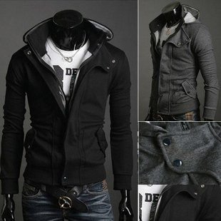 New coats men outwear Mens Special Hoodie Jacket Coat men clothes cardigan style jacket free shipping(China (Mainland))