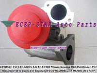 GT2056V 751243-5002S 751243 14411-EB300 TURBO Turbocharger For NISSAN Navara D40;Pathfinder R512005-06 QW25 YD25DDTI 2.5L 174HP