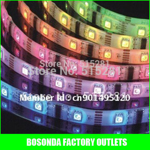 LED flexible strip cheap price 5050 LED 60 pcs/Meter input 12V safe tape/ GOOD QUALITY!! Non-waterproof string !high brightness!(China (Mainland))