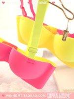 Комплект нижнего белья 2013 underwear bra seamless one piece type 3 breasted push up bras &retail
