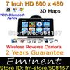 Freeshipping 2012 NEW arrival HD7 inch GPS navigation +Car Reverse Camera+ Bluetooth+ AV-IN+4GB TF card preload 3D map,car gps