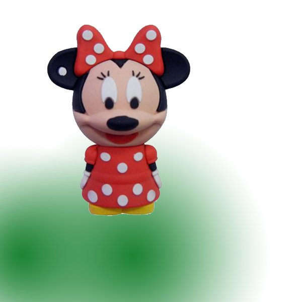 Real 2GB 4GB 8GB 16GB 32GB Silicone & Rubber Mickey & Minnie Mouse USB 2.0 Flash Memory Stick Pen Drive Thumbdrive U Disk Gift(China (Mainland))