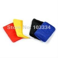 New 100% Cotton Sweatband Wristband Sweat Wrist Band 3 Sizes 5 Colors Free shipping Drop shipping
