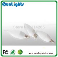 Dimmable E27 E14 led candle lamp smd 2835, 5630 LED 4w/3w Cold/warm White bulb lamp CE UL