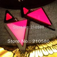 New Styles!!! Super Women's Fashion Jewelry Hip Hop Punk Triangle Neon Earrings Singer Accessories Drop Earring