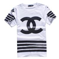 Hot sale 2014 Promotion mens T-shirt cotton camisas Short Sleeves Printing brand tee tops camisetas tee shirt men XL black white