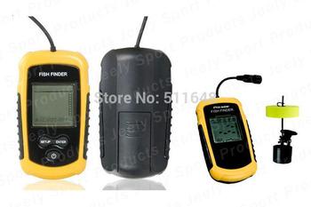 Free Shipping Portable Sonar LCD Fishing Finder Alarm 100M AP Waterproof