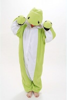 2014 Free Shipping Snake Animal Footed Fleece Christmas and Halloween Adult Pajamas And Onesie For Women and Men Costume and Pjs