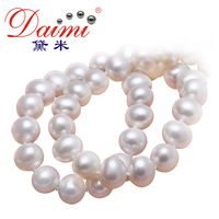 DAIMI 100% Natural Pearl Necklace  Cultured Freshwater Hot Sale Women Favorite Choker Wholesale Retail BEAUTIFUL
