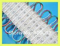 5050 LED module waterproof SMD 5050 RGB LED light module LED backlight channel letter DC12V 0.72W 3led/pcs Fedex free shipping