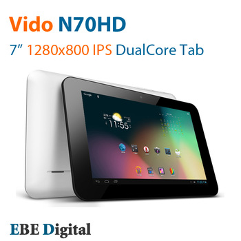 Original Vido N70HD dual core Tablet pc Android 4.1 7 inch IPS Super HD 1280x800 RK3066 1GB 16GB WiFi OTG HDMI