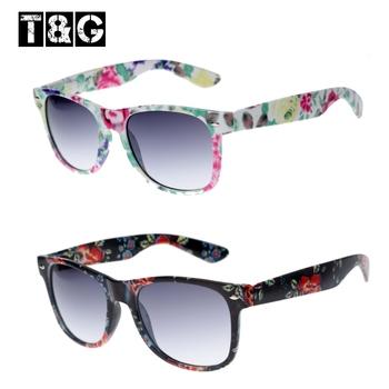 Cute 80's Nerd Vintage Floral Flower Sunglasses Designer Brand Sunglasses Women Unique Shades Outdoors Fashion Girls' Geek