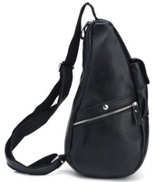 Fashion Style Travel Backpack Small Shoulder Bag Men's Leather Shoulder Bag  3066