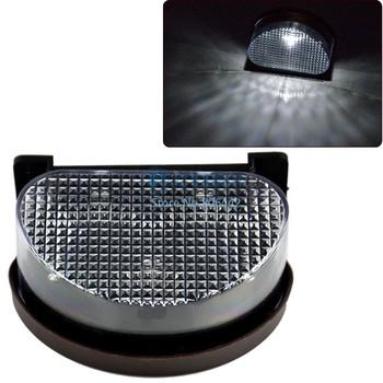 5pcs/Lot Powered Led Solar Fence Light, Solar Panel Garden Wall Light Lamp 6874
