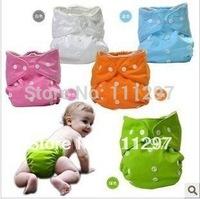 Baby cloth nappy,Reusable Washable Baby Cloth Nappies Nappy Diapers 5 diapers+10 insert baby diaper 6 color choose