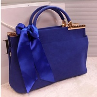 Ribbons DX09,2013 FREE Shipping Personalized New Fashion Brand Design Genuine Leather Women Handbag Tote   Shoulder Bag