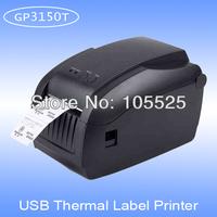 qrcode label printer GP3150T usb lan ports direct thermal printing without ribbon free label editor software