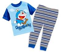 Children's Cartoon Short Sleeves Tshirt Set Boy's Sleepwear Nightwear, 6 Sizes/lot for 1-6 years old boys - GPA230/GPA242/GPA293