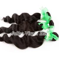 Mix Size 3pcs Lot Free Shipping Virgin Peruvian Hair Loose Wave,Luvin hair products Full Cuticle Natural Black