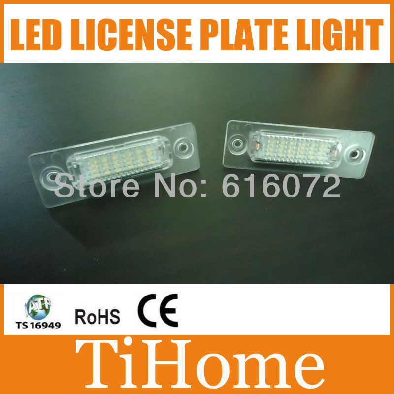 Free Shipping VW Caddy/ Golf Plus/Jetta/Syncro/Passat 5D/Touran/Transporter/Skoda Superb LED LICENSE PLATE LAMP,LED CAR LIGHT(China (Mainland))