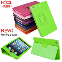 DHL Free Shipping 50pcs/lot Two Ways Stand Litchi Leather Case for iPad Mini Smart Cover Shell Factory Price Wholesale