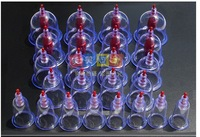 With English Instructions Traditional Chinese Medical 24 Cups Vacuum Cupping Set Kit Body Suction Health Massage  Free shipping