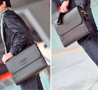 2014 HOT!!1pcs/Lot PJ Men's Shoulder Messenger Briefcase Leather Bag , messenger bag B092