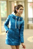 2013 hot selling women' fur coat down jacket long  down parkas coat Free shipping ladies winter warm padded hood overcoat