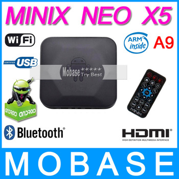 MINIX NEO X5 RK3066 Dual Core Cortex A9 Google Android TV Box Wireless Bluetooth USB RJ45 HDMI Internet Smart TV Box with Remote