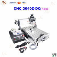 Free shipping!! 4 axis CNC 3040Z-DQ engraving router with Ball Screw Design 3d work