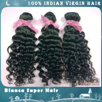 "Indian virgin hair extension Curly 3pcs/lot  8""-24""inches 300g/lot unprocessed human hair,  Free shipping"