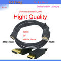 1.5meters high speed hdmi tablet cables for samsung Galaxy S3 android tablet mobile phone support 1080p 3D