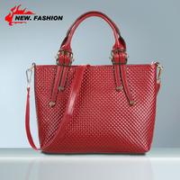 2014 New Handbags Fashion Designer Women Genuine Cow Leather Shoulder Bag Messenger Cross Body Bags With Weave Handle NO79-1