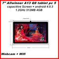 "Hot sell 7"" Allwinner A13 Q8 Android 4.0 tablet pc Capacitive 512M 4G WIFI 5-point touch screen In stock"