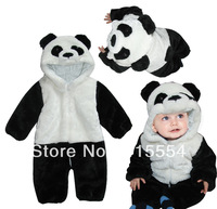 Hot sale 2013 new style Freeshipping the kid's wear thicker winter infant modeling panda coverall romper warm baby PPD005