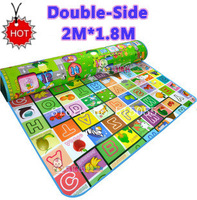 Doulble-Site Baby Play Mat 2*1.8 Meter Fruit Millionaire Game Child Beach Mat Picnic Carpet Baby Crawling Mat,Baby gift