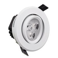 3W LED Spot Lamp for 70-75 mm hole size for living room TV wall White cover LED Spotlight  AC85V-265V HSD590W