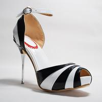 new arrive  fashion   leather   High-heeled 12cm   fish mouth  high heels platform pumps  brand  women   wedding  Sandals