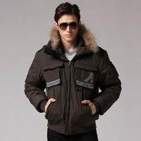 Freeshipping autumn winter black coffee man men male Korean version thickened detachable hooded cotton liner jacket coat  WM500