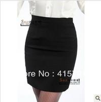 2013 New Free shipping  Black Navy blue Bust skirt slim tailored chiffon short career skirt OL office career stripe Skirts women
