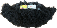 Lovely black  chiffon pettiskirts princess skirts tull tutu Halloween party dance wear 2-9 Ys