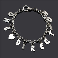 Valentine's day gift ! silver charm bracelet,high quality  jewelry