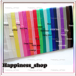 Free Shipping 60pcs/lot 1.5*38cm Stretchy elastic headbands with loop Baby Girls flexible Shimmery Satin hair accessory(China (Mainland))