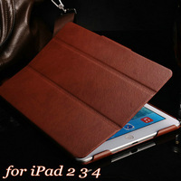 Ultra Thin Vintage with Stand Magnetic Leather Case for iPad 4 3 2 New Smart Cover for iPad3 Muti Colors