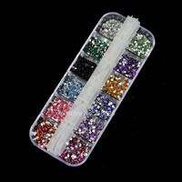 New 30Sets/Lot 3000 pcs Mix Color Teardrop Nail Art Rhinestones Decoration Deco Glitters Gems 2064